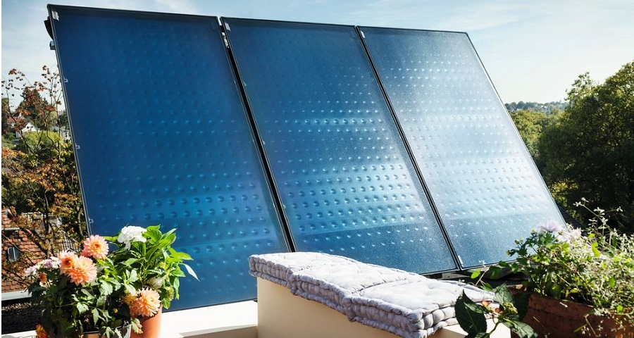 Einbausituation Solarkollektor Logasol SKT 1.0