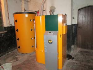 Heizungsanlagen Sanierung in Altbau mit Pelletheizung